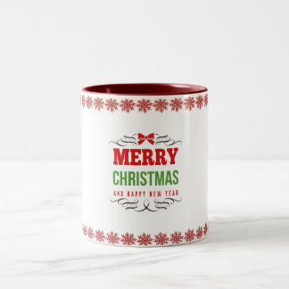 Happy Holidays Two-Tone Mug