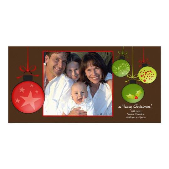 Happy Holidays Unique Christmas Oraments Photo Car Card