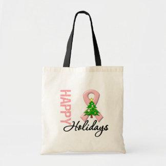 Happy Holidays Uterine Cancer Awareness Bag