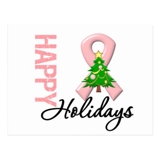 Happy Holidays Uterine Cancer Awareness Postcard