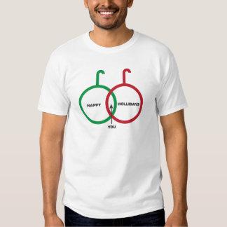 Happy Holidays Venn Diagram T-Shirt