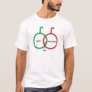 Happy Holidays Venn Diagram T-Shirt