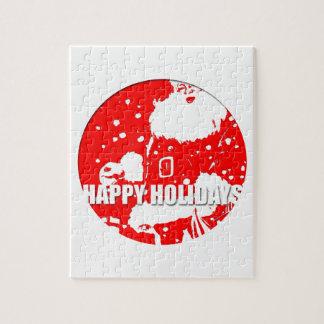 Happy Holidays Vintage Santa Claus Puzzle
