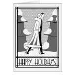 """""""Happy Holidays"""" walk in the snow Card"""