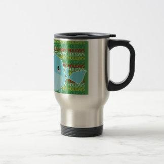 Happy Holidays Whale Coffee Mugs