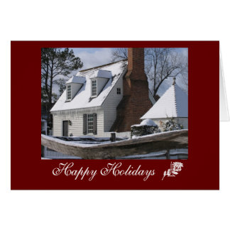 Happy Holidays, Williamsburg Card