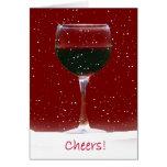 Happy Holidays Wine Christmas Card