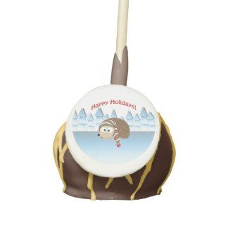 Happy Holidays! Winter Hedgehog Cake Pops