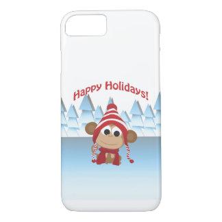 Happy Holidays! Winter Monkey iPhone 8/7 Case