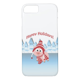 Happy Holidays! Winter Pig iPhone 8/7 Case