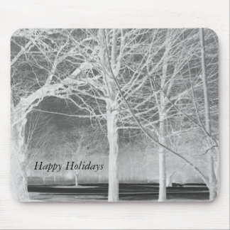 Happy Holidays Winter Solstice Landscape Mouse Pad
