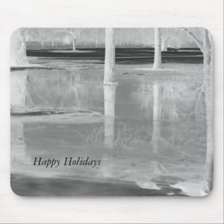 Happy Holidays Winter Sostice Landscape Mouse Pad
