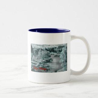 Happy Holidays wishes Xmas Season's Greetings Two-Tone Coffee Mug