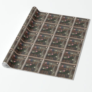 Happy holidays with ornaments wrapping paper