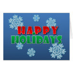 Happy Holidays with Snowflakes Greeting Card