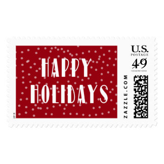 Happy Holidays with Snowflakes Stamps