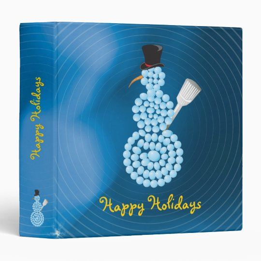 Happy Holidays with snowman - Binder