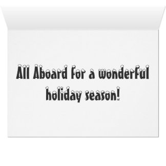 Happy Holidays with the Polar Express Greeting Card
