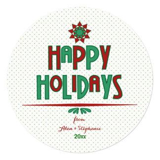 Happy Holidays Word Art Card