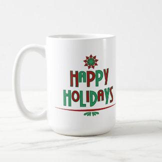 Happy Holidays Word Art Mug