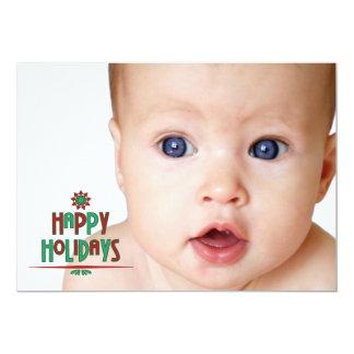 Happy Holidays Word Art Photo Card