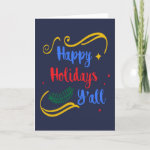 Happy Holidays Y'all, Funny Christmas Design, ZSG Holiday Card