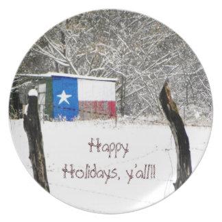 Happy Holidays y'all plate
