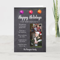 Happy Holidays Year In Review Christmas photo Holiday Card