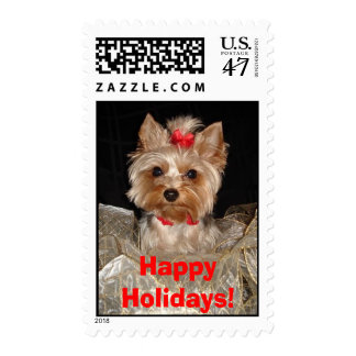 Happy Holidays Yorkie!! Stamp