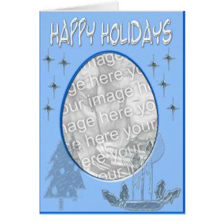 happy holidaysblue template card