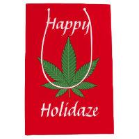 Happy Holidaze Personalized Medium Gift Bag