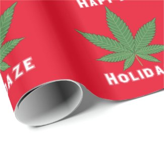 Happy Holidaze Personalized Wrapping Paper