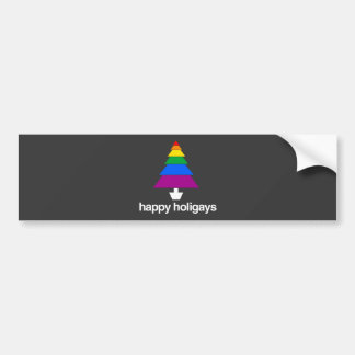 HAPPY HOLIGAYS BUMPER STICKERS