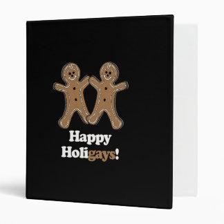 Happy Holigays Gingerbread Binders