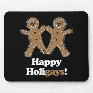 Happy Holigays Gingerbread Mousepad