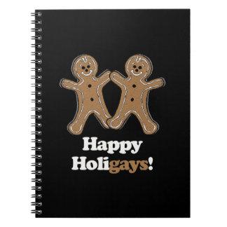 Happy Holigays Gingerbread Spiral Notebooks