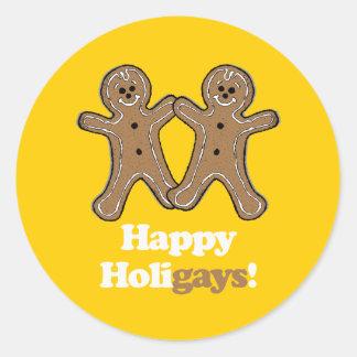 Happy Holigays Gingerbread Sticker