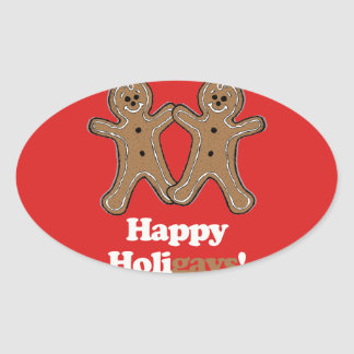HAPPY HOLIGAYS (Gingerbread) Sticker