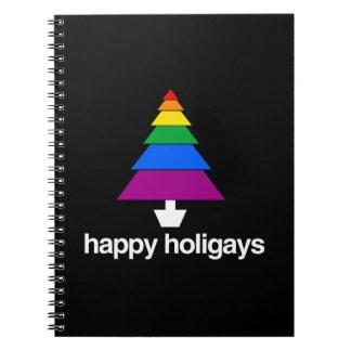 HAPPY HOLIGAYS TREE SPIRAL NOTEBOOK