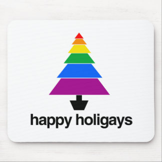 HAPPY HOLIGAYS TREE -.png Mousepad