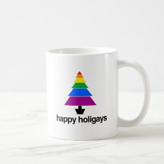 HAPPY HOLIGAYS TREE -.png Coffee Mug