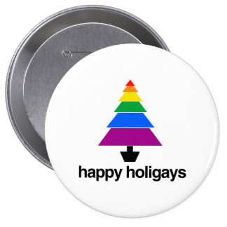 HAPPY HOLIGAYS TREE -.png Pinback Button
