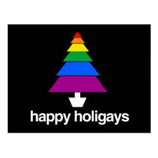 HAPPY HOLIGAYS TREE POSTCARD