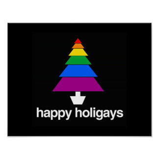 HAPPY HOLIGAYS TREE POSTERS