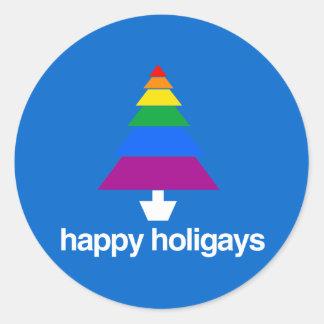 HAPPY HOLIGAYS TREE STICKER