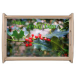 Happy Holly Day Serving Tray