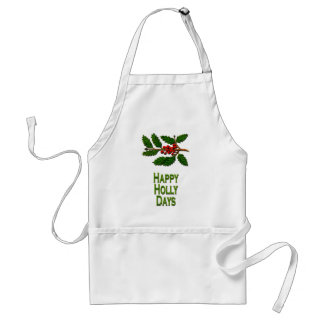 Happy Holly Days Adult Apron