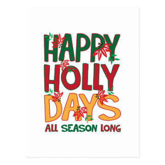 Happy Holly Days All Season Postcard
