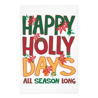 Happy Holly Days All Season Stationery Paper