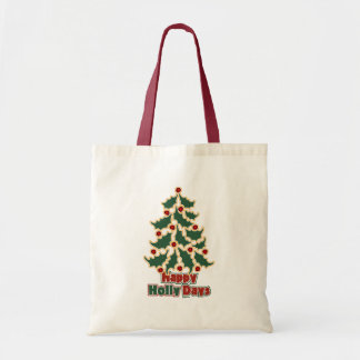Happy Holly Days Canvas Bags